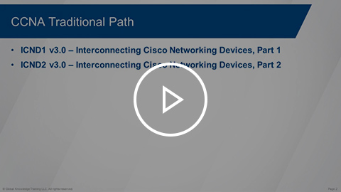 Cisco CCNA Routing and Switching paths