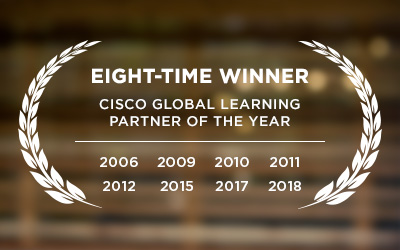 Eight-time winner of the Cisco Global Learning Partner of the Year award.