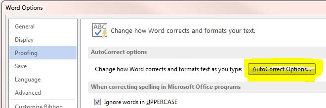 how to set up autocorrect in Microsoft